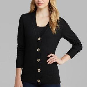 Tory Burch Simon Cardigan Black